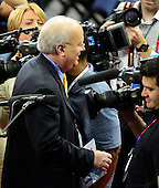 Karl Rove is surrounded by cameras as he visits the floor of the 2012 Republican National Convention prior to the start of proceedings in Tampa Bay, Florida on Monday, August 27, 2012..Credit: Ron Sachs / CNP.(RESTRICTION: NO New York or New Jersey Newspapers or newspapers within a 75 mile radius of New York City)