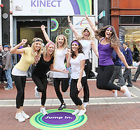"NO REPRO FEE. ASSETTS MODELS DANCE WITH THE  KINECT FOR Xbox360. Six of Ireland's top models got their groove on at the Kinect Experiential Centre on Grafton Street as they showed off their moves in a dance-off.  Nadia Forde, Suzanne Mc Cabe, Lynne Kelly, Vogue Wilson, Karena Graham and Jenny Lee let loose on the dancefloor to 'Dance Central', with Nadia Forde proving to be the Dancing Queen as she emerged victorious on the day. 'Dance Central' is one of 19 games which will be available on Xbox 360, when Kinect launches on Wednesday 10th November. ""Dance Central"" is the first controller-free, body tracking, fully-immersive dance video game that helps you take your moves to the next level. Kinect for Xbox 360 makes it possible to play in a whole new way by identifying your movement and body position to create a truly immersive entertainment experience. See a ball? Just kick it. Browse through a menu with the wave of a hand. The countdown to Kinect for Xbox360 has officially begun and consumers have been enjoying Kinect controller free fun at the Experiential Centre on Grafton since the beginning of October Picture James Horan/collins Photos"