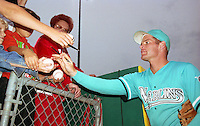 Florida Marlins Scott Pose signs autographs during Spring Training 1993.  (MJA/Four Seam Images)