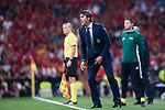 Spain head coach Julen Lopetegui reacts during their 2018 FIFA World Cup Russia Final Qualification Round 1 Group G match between Spain and Italy on 02 September 2017, at Santiago Bernabeu Stadium, in Madrid, Spain. Photo by Diego Gonzalez / Power Sport Images