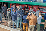 3 April 2017: Miami Marlins Manager Don Mattingly is interviewed by the media prior to Opening Day against the Washington Nationals at Nationals Park in Washington, DC. The Nationals defeated the Marlins 4-2 to open the 2017 MLB Season. Mandatory Credit: Ed Wolfstein Photo *** RAW (NEF) Image File Available ***
