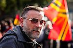 Nederland, Utrecht 11-10-2015, Pegida Protest tegen Islamisering van Europa en Nederland. Vredenburg . foto Michael Kooren/.<br /> Oprichter Lutz Bachman of Pegida Germany
