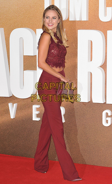 Kimberley Garner at the &quot;Jack Reacher: Never Go Back&quot; European film premiere, Cineworld Empire Leicester Square cinema, Leicester Square, London, England, UK, on Thursday 20 October 2016. <br /> CAP/CAN<br /> &copy;CAN/Capital Pictures