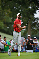 Kevin Tway (USA) watches his tee shot on 4 during Rd3 of the 2019 BMW Championship, Medinah Golf Club, Chicago, Illinois, USA. 8/17/2019.<br /> Picture Ken Murray / Golffile.ie<br /> <br /> All photo usage must carry mandatory copyright credit (© Golffile   Ken Murray)