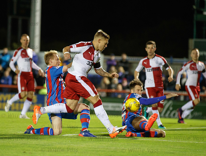Martyn Waghorn has an early attempt on goal