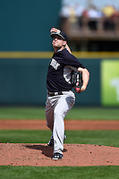 New York Yankees pitcher Chase Whitley (39) during a Spring Training game against the Pittsburgh Pirates on March 5, 2015 at McKechnie Field in Bradenton, Florida.  New York defeated Pittsburgh 2-1.  (Mike Janes/Four Seam Images)