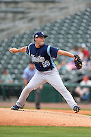 Corpus Christi Hooks pitcher Jordan Jankowski (16) delivers a pitch during a game against the NW Arkansas Naturals on May 26, 2014 at Arvest Ballpark in Springdale, Arkansas.  NW Arkansas defeated Corpus Christi 5-3.  (Mike Janes/Four Seam Images)
