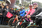 The Prime Minister Giuseppe Conte paid a visit to the Corsa Rosa today ready to drop the flag for the start of Stage 5 of the 2019 Giro d'Italia, running 140km from Frascati to Terracina, Italy. 15th May 2019<br /> Picture: Gian Mattia D'Alberto/LaPresse | Cyclefile<br /> <br /> All photos usage must carry mandatory copyright credit (© Cyclefile | Gian Mattia D'Alberto/LaPresse)