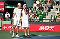 (L to R) Tatsuma Ito (JPN), Kei Nishikori (JPN), October 3, 2011 - Tennis : Men's Doubles at Rakuten Japan Open Tennis Championships in Tokyo, Japan. (Photo by Atsushi Tomura/AFLO SPORT) [1035]