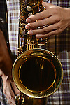 DC Stage, Kaohsiung -- Jeffery Lin of SMALLS JAZZ COMBO during a saxophone solo.