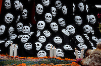 Sculptures are seen at Autonomous University of Mexico while they  celebrate the day of the dead in honor  to the 50 anniversary of the death of the Spanish-Mexican surrealist painter Remedios Varo, October 25, 2013. Photo by Miguel Angel Pantaleon/VIEWpress