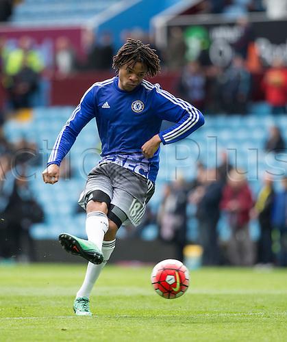 02.04.2016. Villa Park, Birmingham, England. Barclays Premier League. Aston Villa versus Chelsea.  Chelsea forward Loic Remy warming up with the ball before the match.