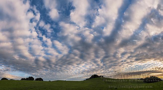 Clouds over the Briones Crest, Briones Regional Park, Contra Costa County, California