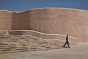 A security guard walks past the Dr. Bhimrao Ambedkar Smarak Parivartan Sthal built by Uttar Pradesh chief minister, Mayawati in Lucknow, India. The dalit chief minister, Mayawati is channeling huge state funds into making structures and sand stone monstrosities using public funds in the state capital, Lucknow.