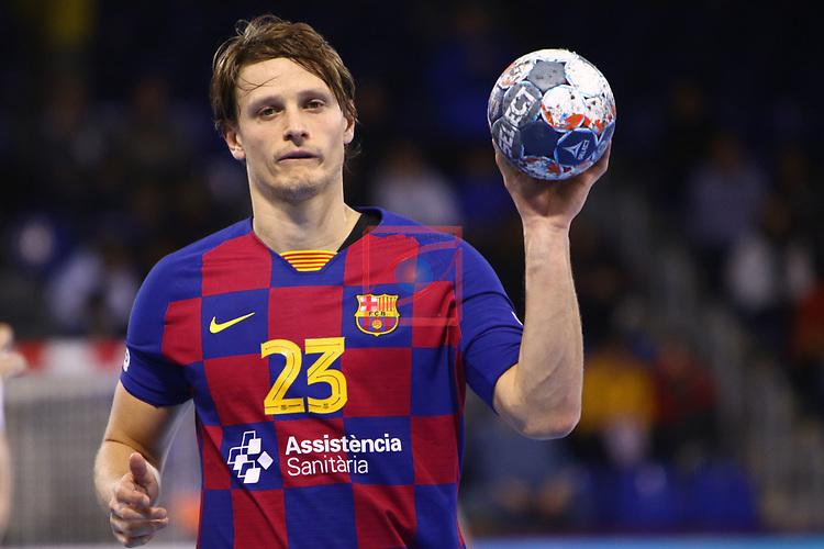 VELUX EHF 2019/20 EHF Men's Champions League Group Phase - Round 8.<br /> FC Barcelona vs Aalborg Handbold: 44-35.<br /> Jure Dolenec.