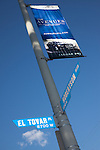 A lightpost banner at the intersection of El Tovar Place and Roberson Blvd for The Avenues, Art, Fashion and Design District in West Hollywood, CA