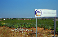 Sign indicating the start of the vineyard Chassagne-Montrachet