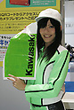 Mar 26, 2010 - Tokyo, Japan - A campaign girl of the Japanese brand Kawasaki poses during the 37th Tokyo Motorcycle Show at Tokyo Big Sight on March 26, 2010. The event is the Japan's largest motorcycle exhibition and it will be held until March 28 this year. (Photo Laurent Benchana/Nippon News)