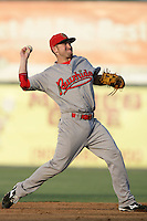 July 26 2009: Taylor Harbin of the Visalia Rawhide during game against the Inland Empire 66'ers at Arrowhead Credit Union Park in San Bernardino,CA..Photo by Larry Goren/Four Seam Images