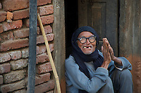 Old man at Khokana Village Kathmandu Valley, Nepal