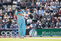 Jonny Bairstow (England) pulls a short delivery from Jason Holder (West Indies) swore of the wicket during England vs West Indies, ICC World Cup Cricket at the Hampshire Bowl on 14th June 2019