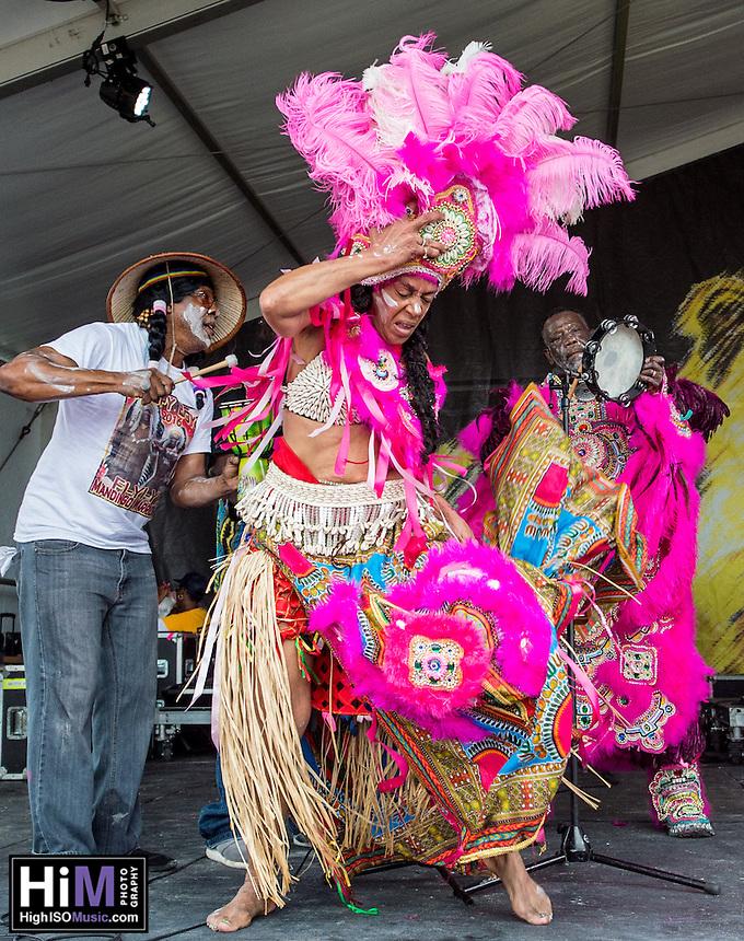 The Mandingo Warriors at Jazz Fest 2016.
