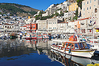 Hydra has surely the most picturesque harbor in Greece