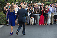 United States President Donald J. Trump and First Lady Melania Trump greet well wishers before departing the White House in Washington, DC, November 3, 2017 for a multi-day trip to Hawaii and then on to Asia.<br /> Credit: Chris Kleponis / CNP /MediaPunch