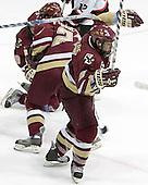 (Brock Bradford, Benn Ferreiro) Nathan Gerbe - The Boston College Eagles and Northeastern University Huskies tied at 1 on Saturday, October 22, 2005, at Matthews Arena in Boston, Massachusetts.