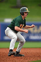 Siena Saints catcher Phil Madonna (3) leads off second during the second game of a doubleheader against the Michigan Wolverines on February 27, 2015 at Tradition Field in St. Lucie, Florida.  Michigan defeated Siena 6-0.  (Mike Janes/Four Seam Images)