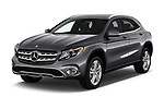 2018 Mercedes Benz GLA 250 4MATIC 5 Door SUV angular front stock photos of front three quarter view