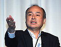 Softbank chairman Masayoshi Son announces financial result for first quarter