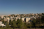 Israel, Jerusalem, The view east of Ammunition Hill, formerly a Jordanian Army stronghold, was conquered in the Six Day War in 1967. The hill was converted into a national memorial site and museum<br />