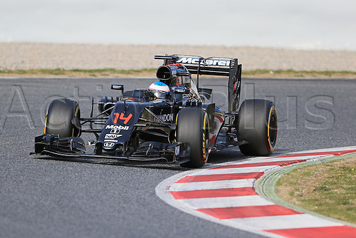 03.03.2016. Barcelona, Spain. Formula 1 Winter Testing at Circuit de Barcelona Catalunya Test 2 Day 3.  McLaren Honda MP4-31 – Fernando Alonso