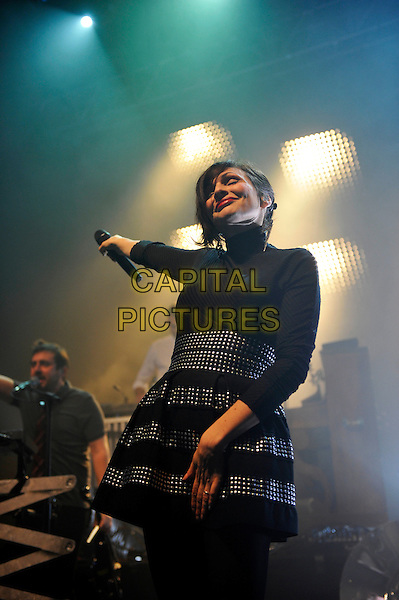 LONDON, ENGLAND - DECEMBER 15: Zo&eacute; Colotis of 'Caravan Palace' performing at The Forum on December 15, 2015 in London, England.<br /> CAP/MAR<br /> &copy; Martin Harris/Capital Pictures