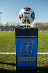 KANSAS CITY, MO - DECEMBER 02: The Division II Women's Soccer Championship game ball is on display held at the Swope Soccer Village on December 2, 2017 in Kansas City, Missouri. (Photo by Doug Stroud/NCAA Photos/NCAA Photos via Getty Images)