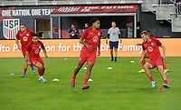 WASHINGTON D.C. - OCTOBER 11: Weston McKennie #8 of the United States during warm up prior to their Nations League game versus Cuba at Audi Field, on October 11, 2019 in Washington D.C.