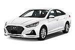 2019 Hyundai Sonata SE 4 Door Sedan Angular Front automotive stock photos of front three quarter view