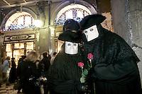 Carnevale in Piazza San Marco a Venezia.<br /> Carnival in St. Mark's Square, Venice.<br /> UPDATE IMAGES PRESS/Riccardo De Luca