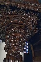Europe/France/Poitou-Charentes/17/Charente-Maritime/Ile de Ré/Ars-en-Ré: L'église Saint Etienne - Détail chaire 1614