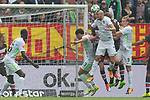 22.07.2017, Millerntor-Stadion, Hamburg, GER, FSP, FC St. Pauli vs SV Werder Bremen<br /> <br /> im Bild<br /> Milos Veljkovic (Werder Bremen #13), Luca Caldirola (Werder Bremen #3) mit Kopfball, Aron J&oacute;hannsson / Johannsson (Werder Bremen #9), <br /> <br /> Foto &copy; nordphoto / Ewert