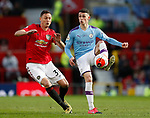 Nemanja Matic of Manchester United and Phil Foden of Manchester City during the Premier League match at Old Trafford, Manchester. Picture date: 8th March 2020. Picture credit should read: Darren Staples/Sportimage