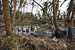 A damaged house from Cyclone Nargis  at the village of Kamingo in Irrawaddy Division, May 10, 2008. Despairing survivors in Myanmar awaited emergency relief on Friday, a week after 100,000 people were feared killed as the cyclone roared across the farms and villages of the low-lying Irrawaddy delta region. The storm is the most devastating one to hit Asia since 1991, when 143,000 people were killed in neighboring Bangladesh. Photo by Eyal Warshavsky  *** Local Caption *** ëì äæëåéåú ùîåøåú ìàéì åøùáñ÷é àéï ìòùåú áúîåðåú ùéîåù ììà àéùåø
