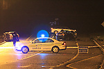 The scene of the Fatal RTA on the N2 Carrickmacross By Pass which happened shortly after 7 pm on Monday Evening..Picture Fran Caffrey/www.newsfile.ie.
