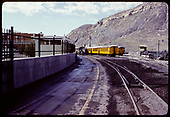 View of tracks and excursion coaches at Durango station.<br /> D&amp;RGW  Durango, CO