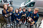 Lixnaw GAA Club All-Ireland Scor na nÓg Champions are heading to Croke Park this Sunday to play at half time during the minor match between Kerry and Derry. Pictured were: Elena McElligott, coach Louise Bunyan, Ciara Shannon, Scor Officer Liz O'Keeffe, Darragh Mackessy, Donagh McElligott and Nelius Mackessy.