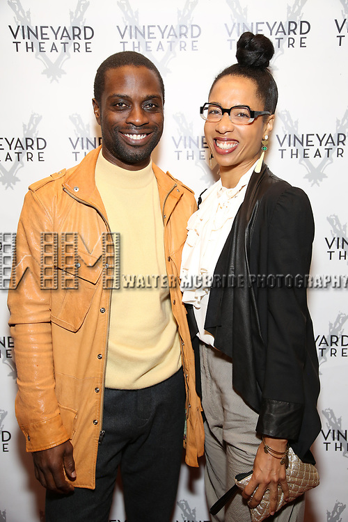 "Adesola Osakalumi during the Opening Night Celebration for ""Good Grief"" at the Vineyard Theatre on October 28, 2018 in New York City."