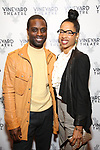 """Adesola Osakalumi during the Opening Night Celebration for """"Good Grief"""" at the Vineyard Theatre on October 28, 2018 in New York City."""