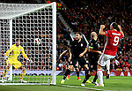 Zlatan Ibrahimovic of Manchester United scores his sides first goal during the UEFA Europa League match at Old Trafford Stadium, Manchester. Picture date: September 29th, 2016. Pic Matt McNulty/Sportimage