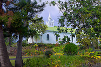 The Painted  CatholicChurch. The Big Island, Hawaii.